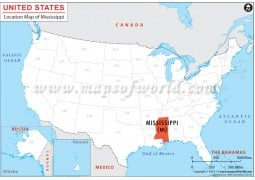 Mississippi Location Map