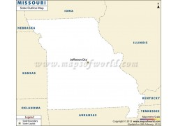 Blank Map of Missouri - Digital File