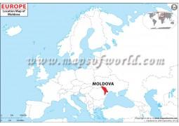 Moldova Location Map - Digital File