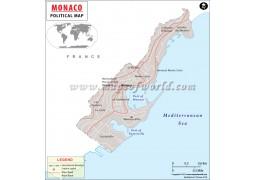 Monaco Map - Digital File