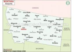 Montana Airports Map - Digital File