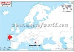 Montenegro Location Map - Digital File