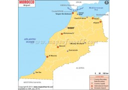 Morocco Airports Map