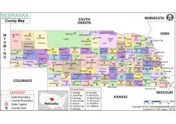 Nebraska County Map - Digital File