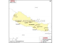 Nepal Map with Cities - Digital File