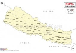 Nepal District Map - Digital File