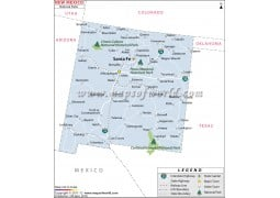 New Mexico National Parks Map - Digital File