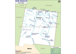 New Mexico River Map - Digital File