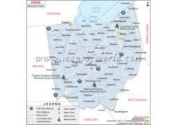 Ohio National Parks Map - Digital File