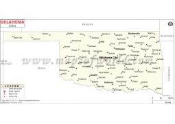 Map of Oklahoma Cities - Digital File