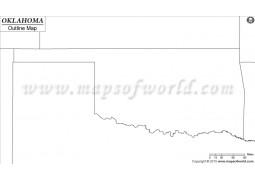 Blank Map of Oklahoma - Digital File