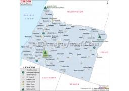 Map of Oregon National Parks - Digital File