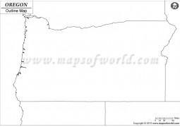 Blank Map of Oregon - Digital File
