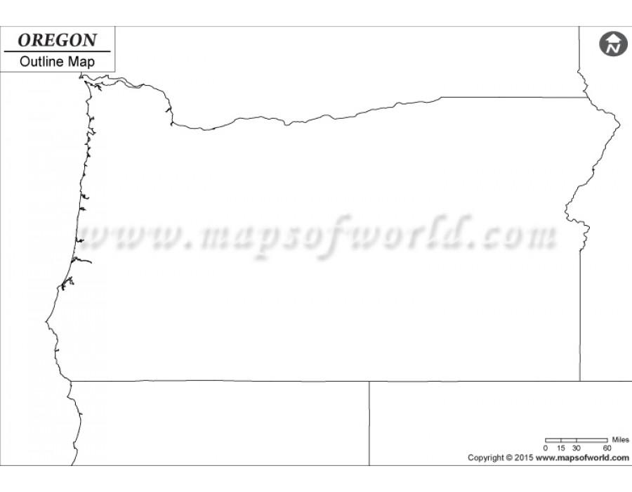 Buy Blank Map Of Oregon