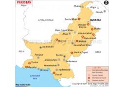 Pakistan Airports Map - Digital File