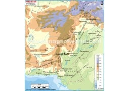Physical Map of Pakistan - Digital File
