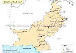 Pakistan Railway Map - Digital File