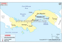 Panama Map with Cities - Digital File