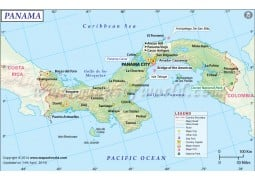 Panama Map - Digital File