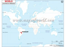 Paraguay Location Map - Digital File