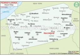 Pennsylvania Airports Map - Digital File