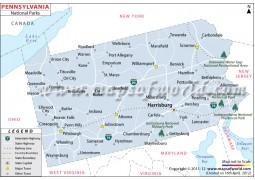 Pennsylvania National Parks Map - Digital File