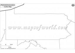 Blank Map of Pennsylvania - Digital File