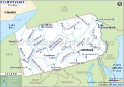 Pennsylvania River Map - Digital File