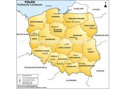 Polen Politische Karte (Poland Political Map) - Digital File