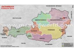 Österreich Karte-Austria Map in German