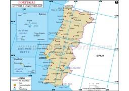 Portugal Latitude and Longitude Map