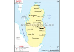Qatar Cities Map - Digital File
