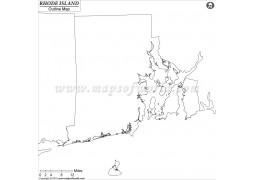 Blank Map of Rhode Island - Digital File