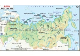 Russia River Map - Digital File
