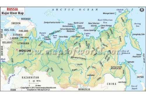 Russia River Map