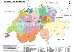 Schweizer Karte - Digital File