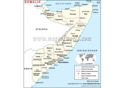 Political Map of Somalia - Digital File