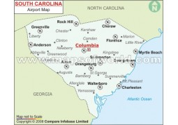 South Carolina Airports Map