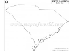 Blank Map of South Carolina