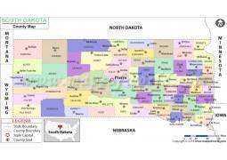 South Dakota County Map - Digital File