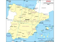 Spain Latitude and Longitude Map
