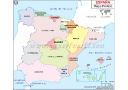 Mapa de España (Spain Map in Spanish) - Digital File