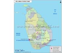 Sri Lanka Travel Map - Digital File