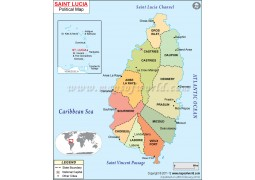 St Lucia Map - Digital File