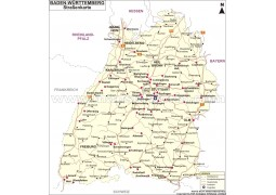 Strabenkarte Baden Wurttemberg - Digital File