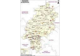 Strabenkarte Hessen - Digital File