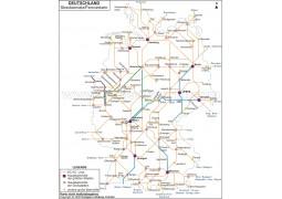 Streckennetz / Fernverkehr Deutschland (Network / Highway Germany) - Digital File