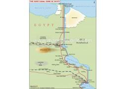 Suez Canal Map - Digital File