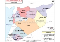 Syria Political Map - Digital File