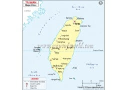 Taiwan Cities Map - Digital File